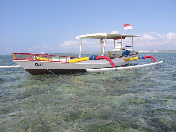 traditional Bali fishing boat
